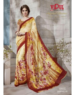 Festival Wear Multi-Colour Georgette Saree  - VIPUL-32935