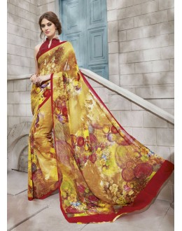 Ethnic Wear Multi-Colour Georgette Saree  - VIPUL-32937