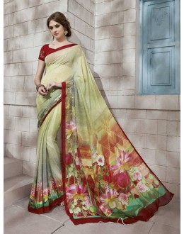 Ethnic Wear Multi-Colour Georgette Saree  - VIPUL-32940