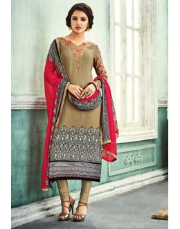 Office Wear Multi-Colour Crepe Salwar Suit - 7104
