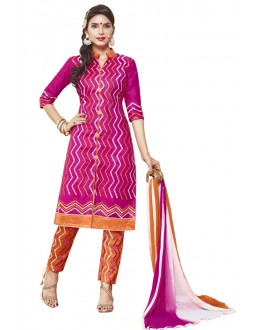 Casual Wear Pink Cotton Lawn Salwar Suit - AALIYA4007A