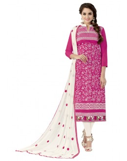 Festival Wear Pink Chanderi Cotton Salwar Suit - ALEXA5001