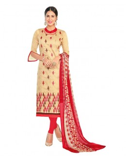 Festival Wear Beige Chanderi Salwar Suit - 15058