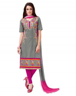 Office Wear Grey Salwar Suit  - BEFIKRE1004