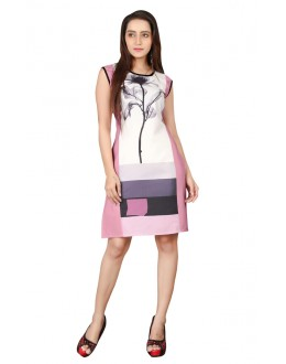 Casual Wear Readymade Multi-Colour Crepe Kurti - BREEZA-21003