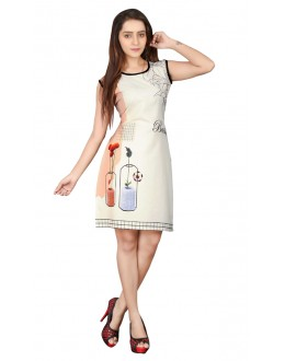Casual Wear Readymade Multi-Colour Crepe Kurti - BREEZA-21005