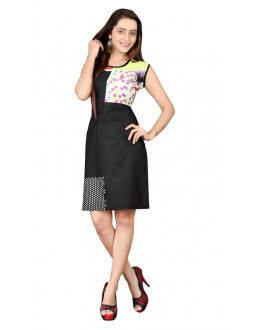 Casual Wear Readymade Multi-Colour Crepe Kurti - BREEZA-21006