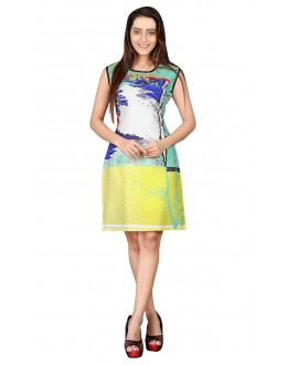 Ethnic Wear Readymade Multi-Colour Crepe Kurti - BREEZA-21007