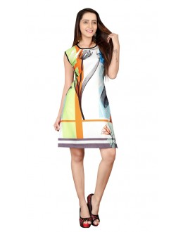 Party Wear Readymade Multi-Colour Crepe Kurti - BREEZA-21008