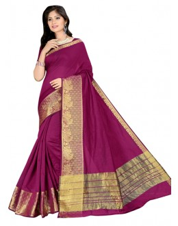 Festival Wear Pink Cotton Silk Saree  - COTTON SILK1160