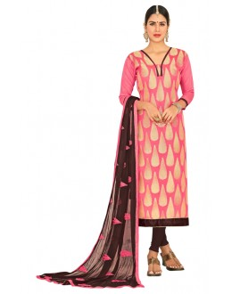 Festival Wear Pink & Brown Salwar Suit  - FLORAL1008