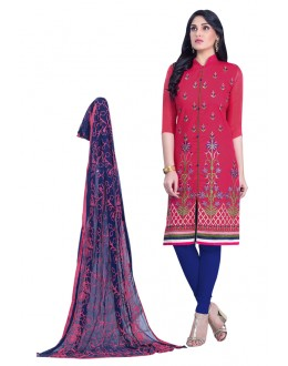 Festival Wear Blue Cambric Cotton Salwar Suit - HEENARI8