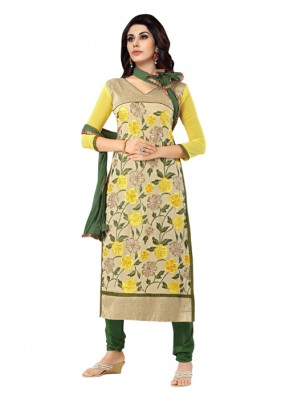 Eid Special Yellow Georgette  Churidar Suit - 903