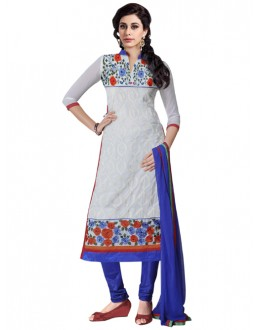 Eid Special White Georgette  Churidar Suit - 908