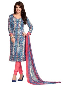 Office Wear Multi-Colour & Pink Salwar Suit  - 5022