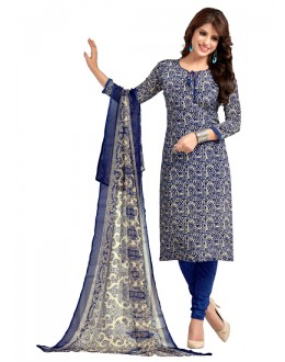 Office Wear Blue Italiyan Crepe Salwar Suit  - 5024