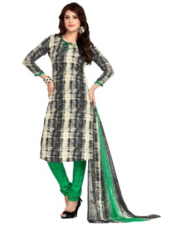 Casual Wear Multi-Colour & Green Salwar Suit  - 5027
