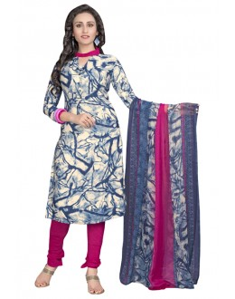 Office Wear Multi-Colour Salwar Suit  - 6007