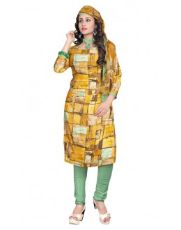 Ethnic Wear Multi-Colour & Green Salwar Suit  - 6011