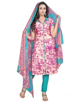 Office Wear Multi-Colour & Blue Salwar Suit  - 6012