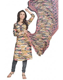 Ethnic Wear Multi-Colour & Grey Salwar Suit  - 6013