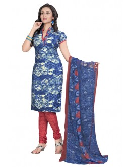 Office Wear Multi-Colour & Red Salwar Suit  - 6015