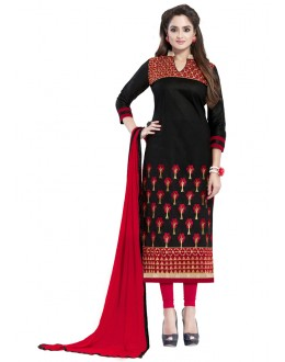 Festival Wear Black Glaze Cotton Salwar Suit  - JENNIFER4001