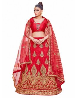 Wedding Wear Red Lehenga Choli - KALKI8501