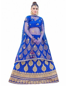 Traditional Royal Blue Lehenga Choli - KALKI8502