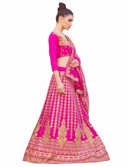 Bridal Wear Pink Lehenga Choli - KALKI8503