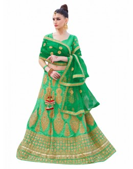 Wedding Wear Green Lehenga Choli - KALKI8504