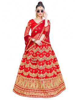Bridal Wear Red Lehenga Choli - KALKI8506