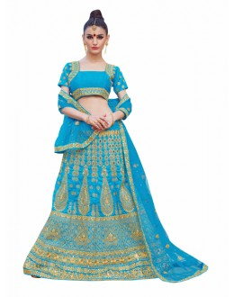 Traditional Sky Blue Lehenga Choli - KALKI8507