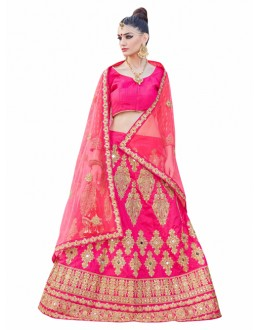 Wedding Wear Pink Lehenga Choli - KALKI8508