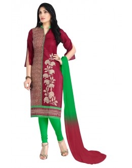 Office Wear Maroon Cotton Salwar Suit  - KOMAL VOL 522004