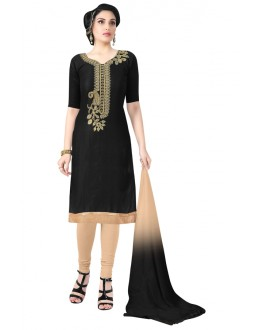 Casual Wear Black Cotton Salwar Suit  - KOMAL VOL 522006
