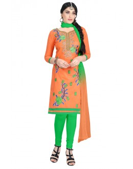 Office Wear Orange Cotton Salwar Suit  - KOMAL VOL 522012