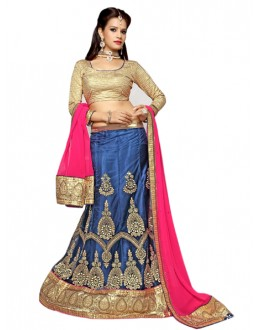 Festival Wear Blue Viscose Lehenga Choli - Mastani1001