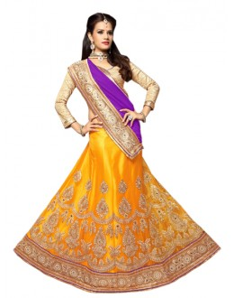 Wedding Wear Yellow Viscose Lehenga Choli - Mastani1008