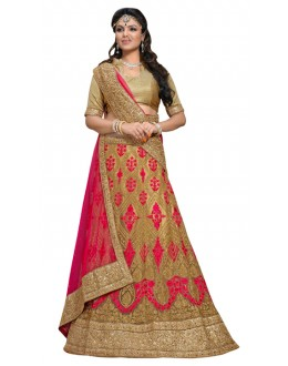 Wedding Wear Beige  Lehnega Choli - NAKASHTRA6308