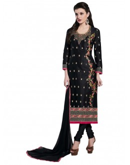 Festival Wear Black Cotton Salwar Suit - NAGIN 221005