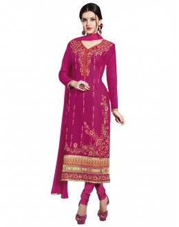 Ethnic Wear Pink Cotton Salwar Suit - NAGIN 221006