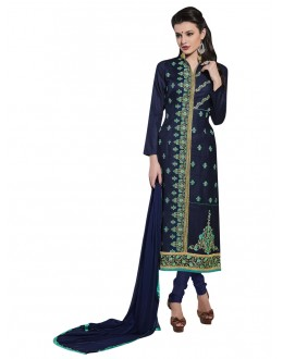 Festival Wear Blue Cotton Salwar Suit - NAGIN 221007