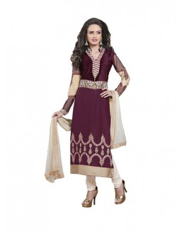 Eid Special Maroon Cambric Cotton Salwar Suit - 4NZK907