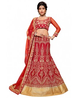 Wedding Wear Red Banglori Lehenga Choli - ROOP NIKHAR77