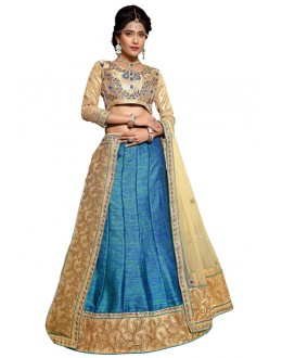 Traditional Blue Banarasi Lehenga Choli - ROOP NIKHAR87