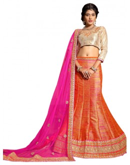 Traditional Orange Banglori Lehenga Choli - ROOP NIKHAR93