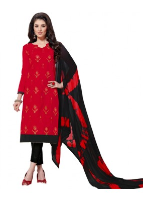 Office Wear Red & Black Salwar Suit  - Aashiqui gold 61016