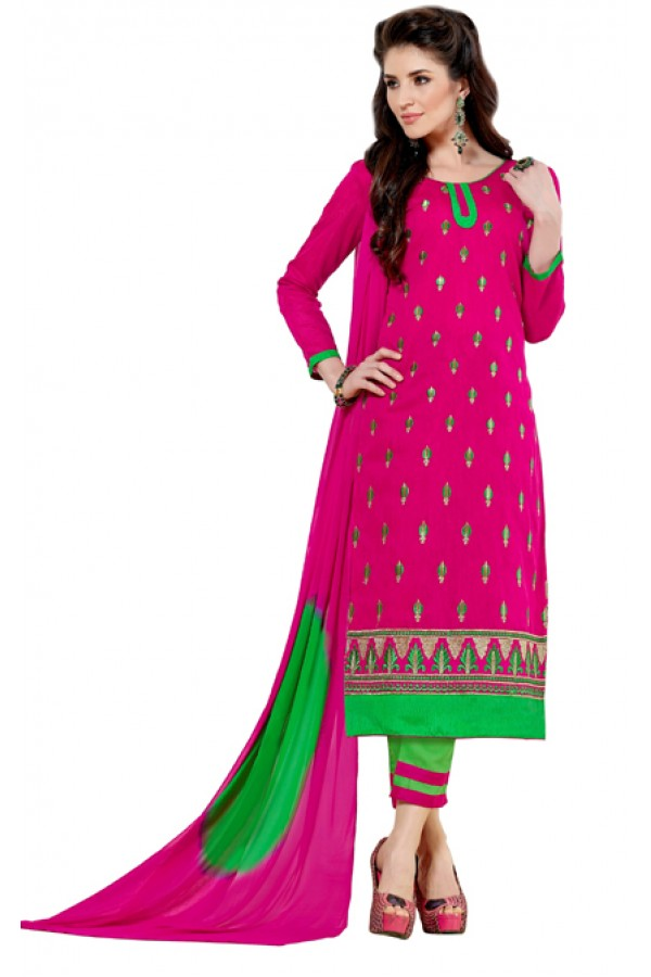 Party Wear Pink & Green Salwar Suit  - Aashiqui gold 61018