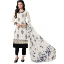 Office Wear White & Black Salwar Suit  - Aashiqui gold 61019